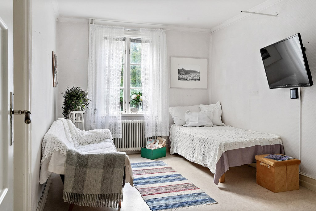 Ett av sovrummen.
