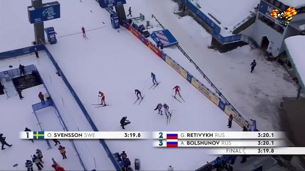 Skrällen: Oskar Svensson vinner sprinten