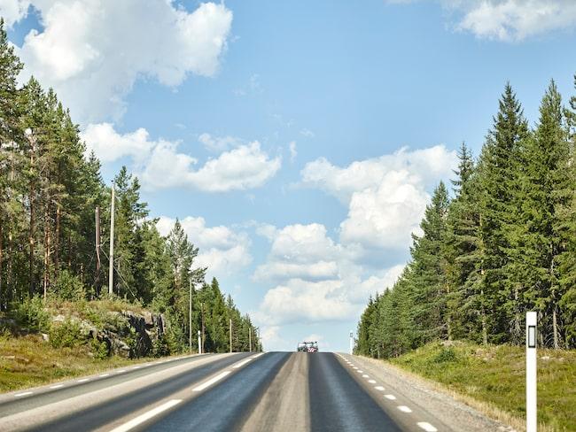 E45 genom Norrlands inland är den europaväg som håller lägst kvalitet.