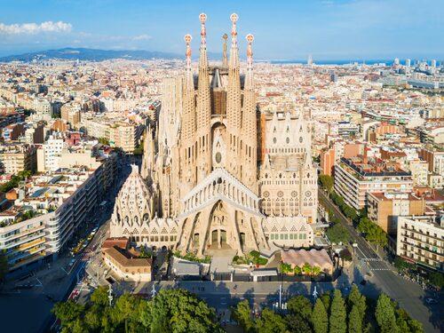 Bygget av Sagrada Familia påbörjades 1882.