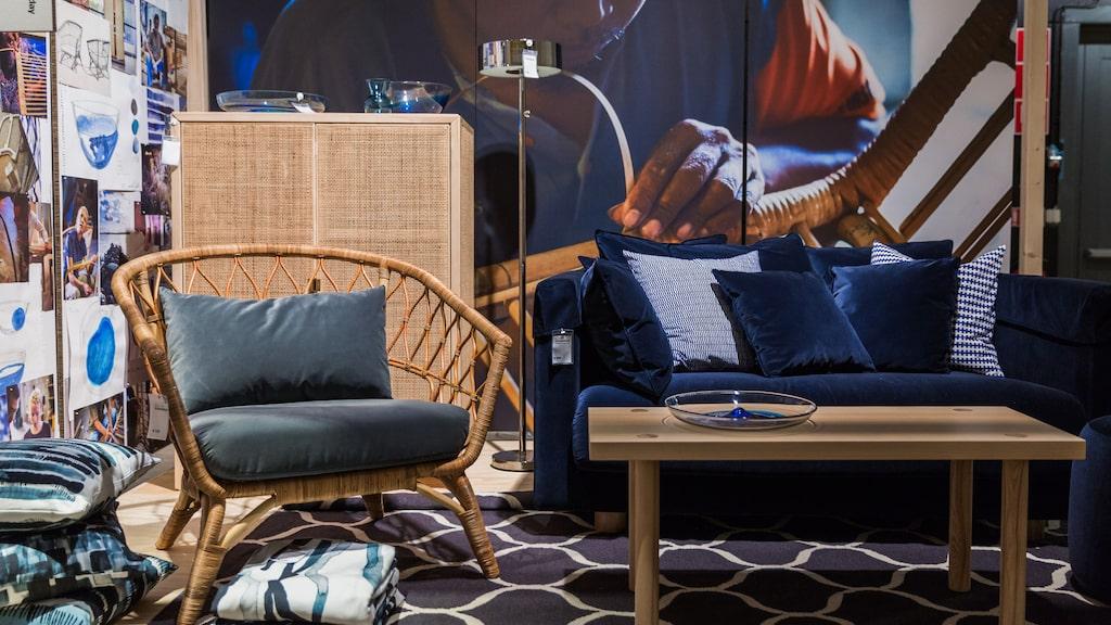 """Ikeas kollektion """"Stockholm 2017"""" är mycket eftertraktad på andrahandsmarknaden. Rottingskåpet som inte går att köpa i butik längre kan kosta över 10 000 kronor."""