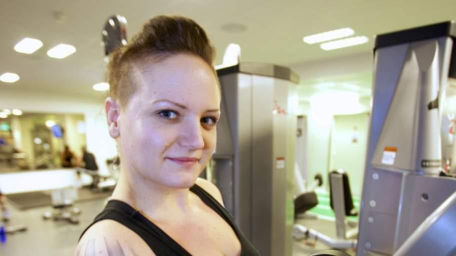 Efter: Balans. Nyårsafton 2013 hade Malin lyckats gå ner 26 kilo. I dag har hon funnit en balans mellan mat och träning. Foto: Mats Endermark