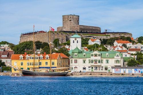 Mäktiga Carlstens fästning i Marstrand.