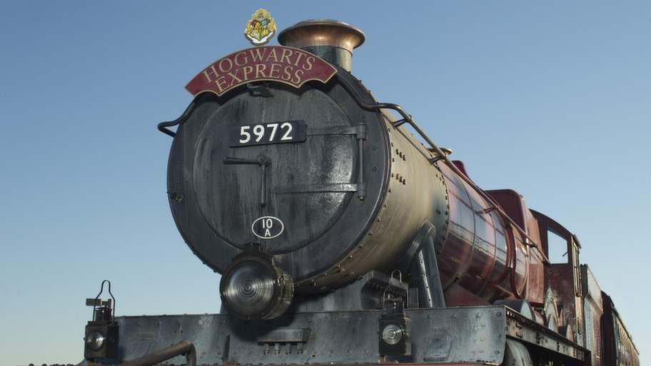 Ångtåget Hogwarts Express på Universal Orlando.