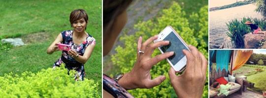 """""""Jag älskar att fotografera och tar alltid bilder med min telefon"""". säger hobbyfotografen Jeanina Santiago."""