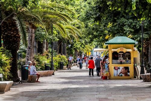 Parque de Malaga är också känt som Parque de la Alameda.
