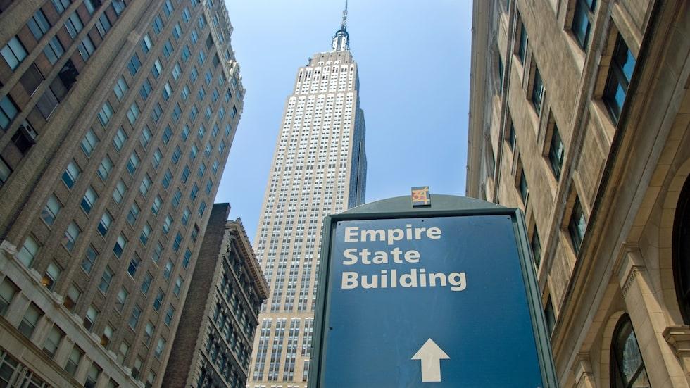 Empire State Building, en av världens mest ikoniska byggnader.