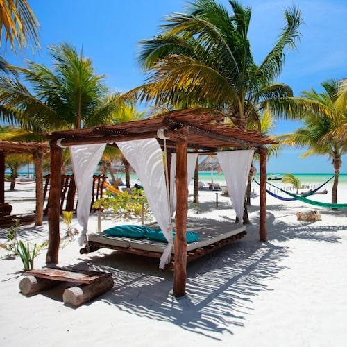 Isla de Holbox är värt att besöka genom en båtutflykt.