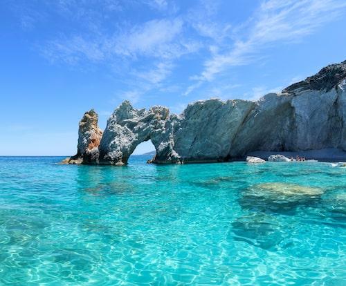 Blå grottan på Lalaria-stranden Skiathos.