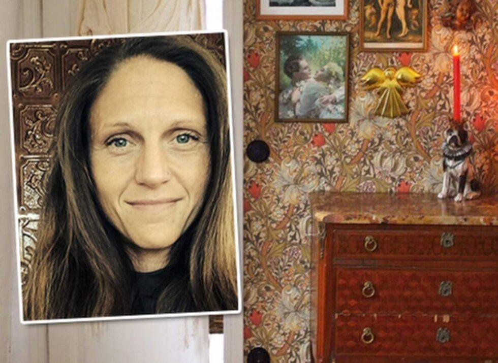 """Sandra Tauberman driver inredningsbloggen """"Villavägen 3"""". Hennes stil är spretig och full med färger och mönster, enligt henne själv. """"Det roligaste med att renovera, bygga och inreda är just att hitta mötet mellan olika mönster och färg"""" säger hon."""