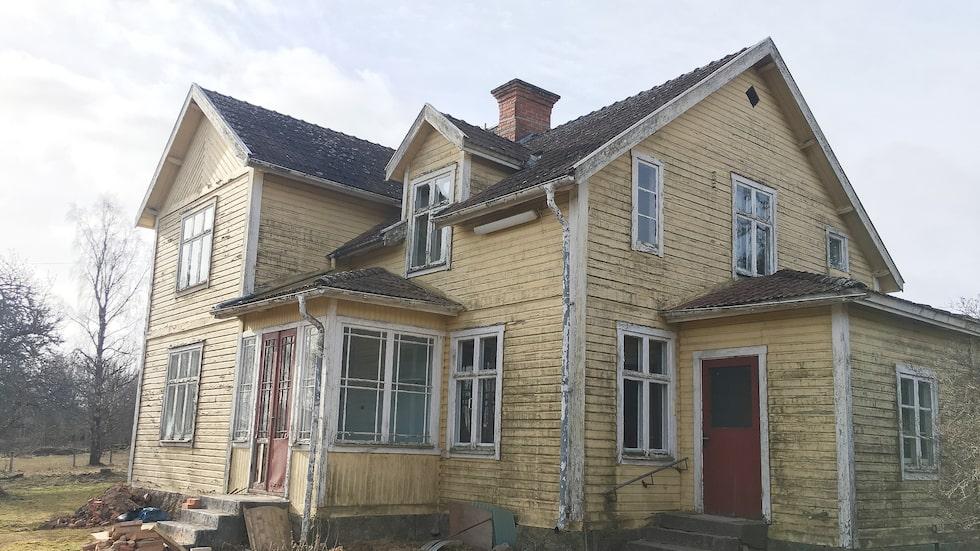 Så här såg huset ut när Lisa och Gusten köpte det.