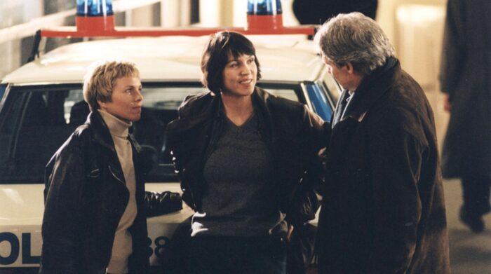 """Görel Crona spelade tuff polis i """"Anna Holt"""" tillsammans med Petra Nielsen."""