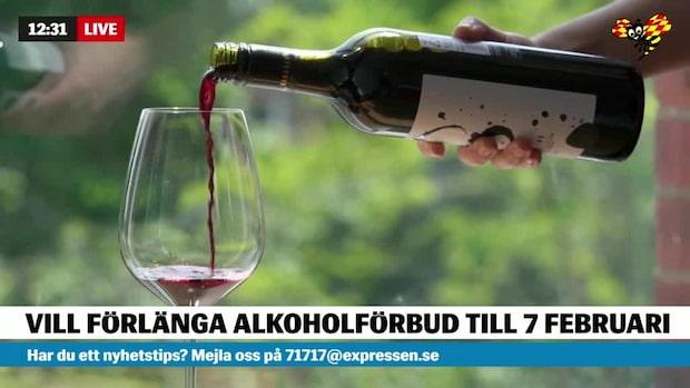 Regeringen vill förlänga alkoholstoppet