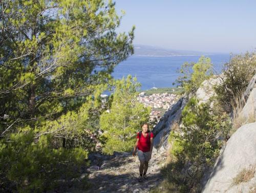 I Biokovomassivet finns populära vandringsleder.