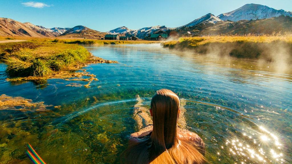 Under värmeböljan har många svenskar åkt till Island.