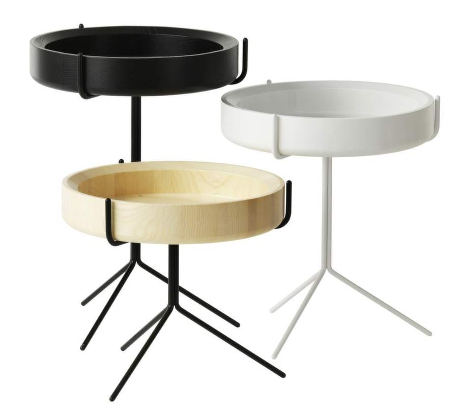 7. Praktiska. Bord Drum i ask natur, vitt eller svart, design Corinna Warm, 2 660 kronor, Swedese.