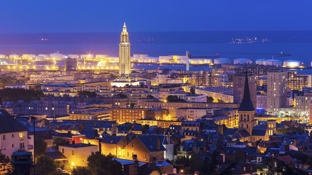 Le Havre i Frankrike tar sig in på en 10:e plats.