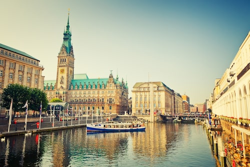 Stadshuset i Hamburg.