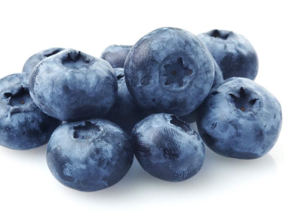 En skål blåbär, 2 tsk.