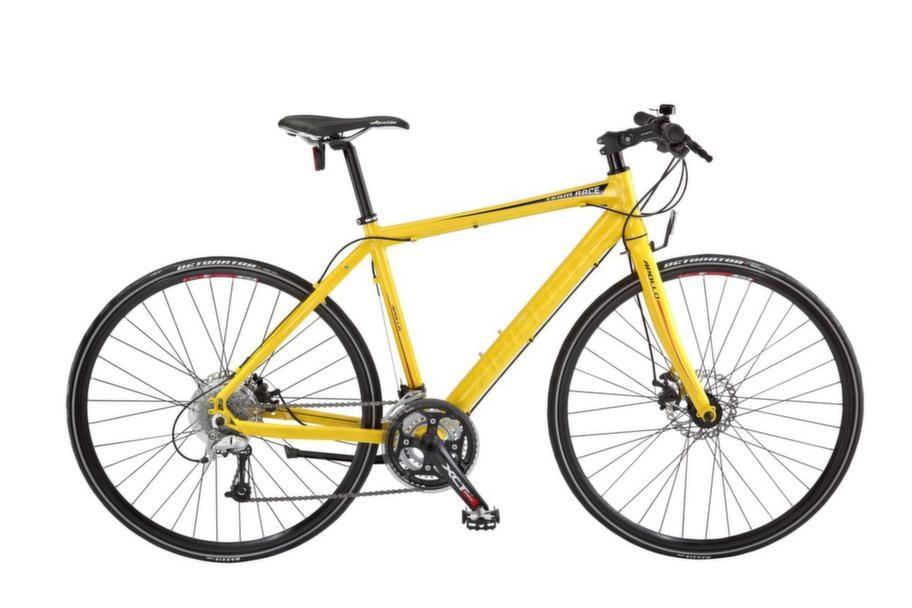 Hybrid<br>Lite sportigare, fler växlar än en standard- cykel. Passar som motionsredskap. Apollo Team Race, ca 5 995 kronor
