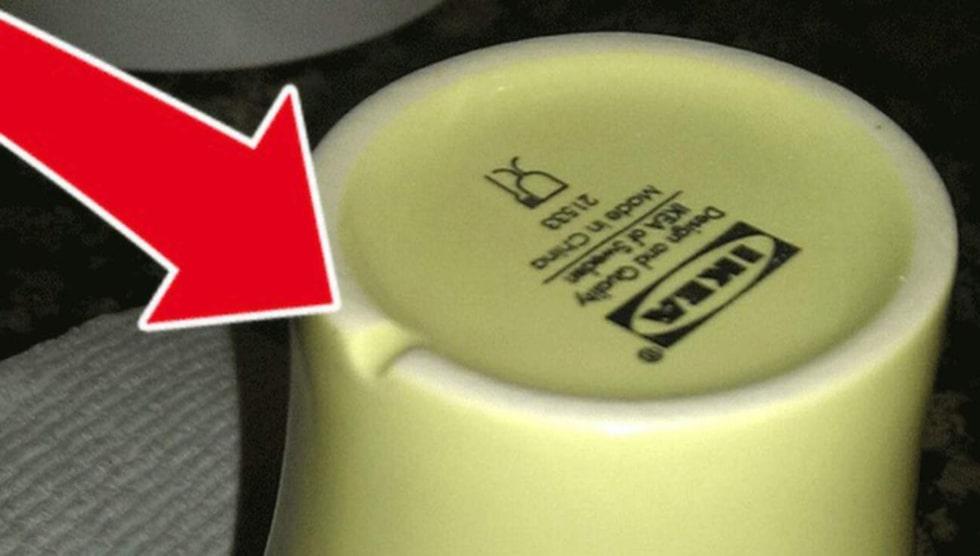 Ser du skåran? Har du undrat varför den egentligen finns där? Anledningen är oerhört smart och praktisk – skåran avleder nämligen vatten när den koppen står upp och ner i diskstället eller i diskmaskinen.