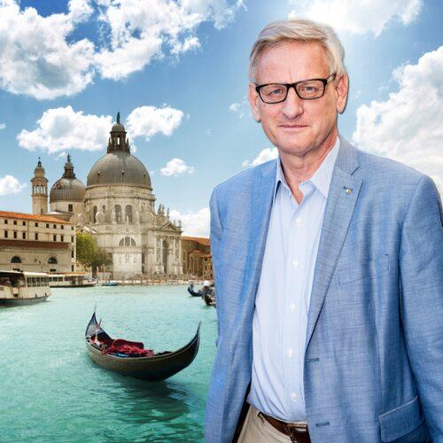 Venedig är en av Carl Bildts absoluta favoriter i Italien. Bilden är ett montage.