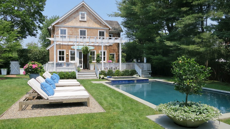 Lyxvilla med sann Hamptons-charm.