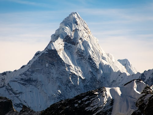 Mount Everest – världens högsta berg.