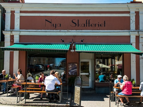 Restaurang Nya Skafferiet vid Stortorget är ett populärt lunchställe.