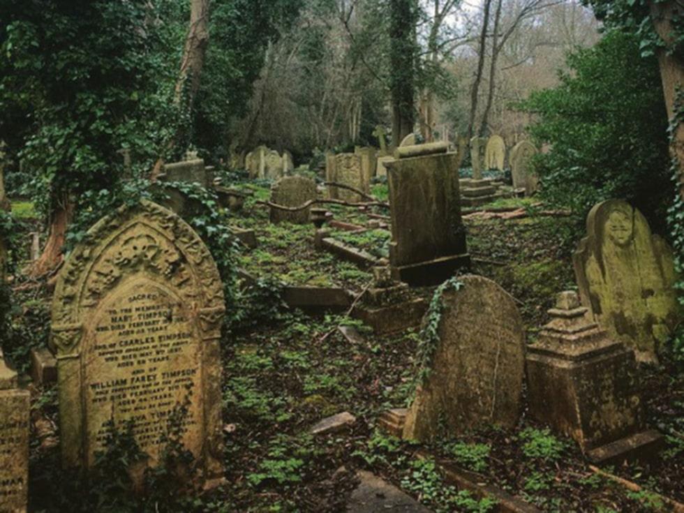 Highgate-kyrkogården i London.