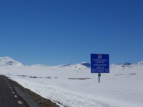 Bild från Vildmarksvägen – tagen i juni.