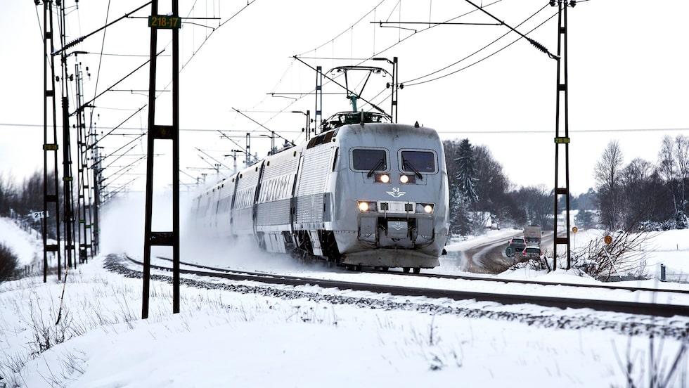 Många tar tåget under jullov och sportlov.