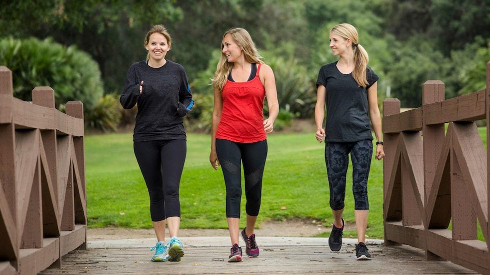 Ta med dina vänner på en promenad och gör prat-testet samtidigt!