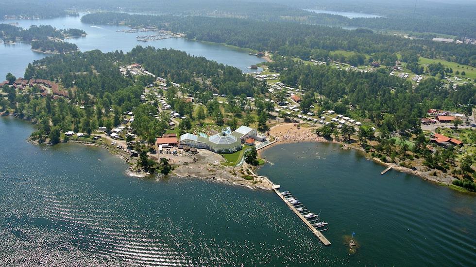 Västervik resort i Småland är en populär camping – och camping ett populärt sökord i relation till Sverige som resmål.