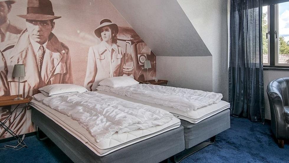 Så här ser Humphrey Bogart-rummet ut.