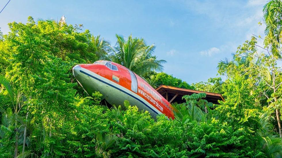 I Costa Rica kan du bo i en ombyggd Boeing 727.