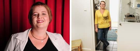 Till vänster: Jessica Högberg som hon såg ut innan hon nådde sin idealvikt. Till höger: Jessica som hon ser ut i dag.