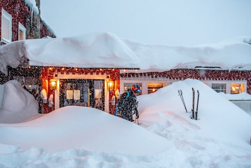En minst sagt snörik entré till Hotell Kittelfjäll.