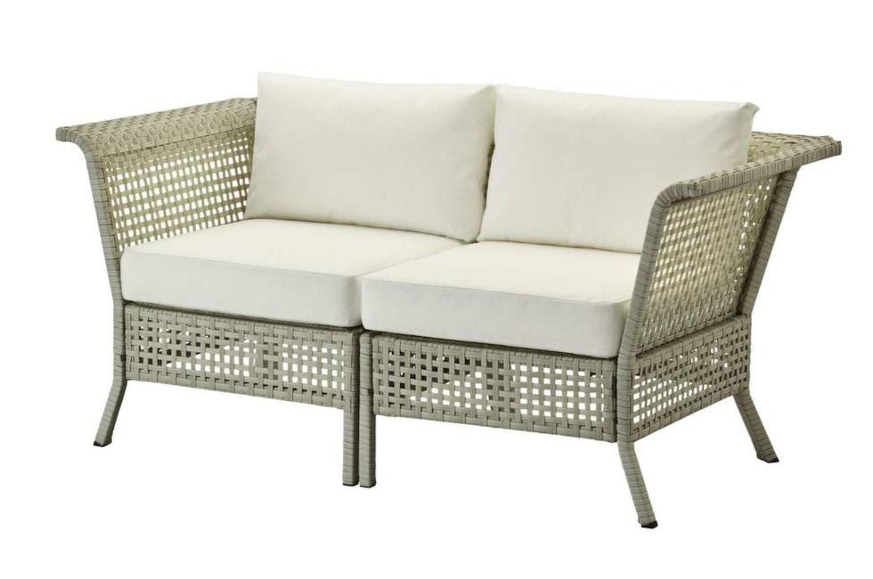 Nu i ljusgrått och vitt! Kombinera ihop sittsektioner själv. 2-sits soffa Kungsholmen, 160 centimeter bred, 2 790 kronor, Ikea.