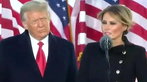 """Trump sista tal inför jublande folkmassa: """"Vi kommer tillbaka i någon form"""""""
