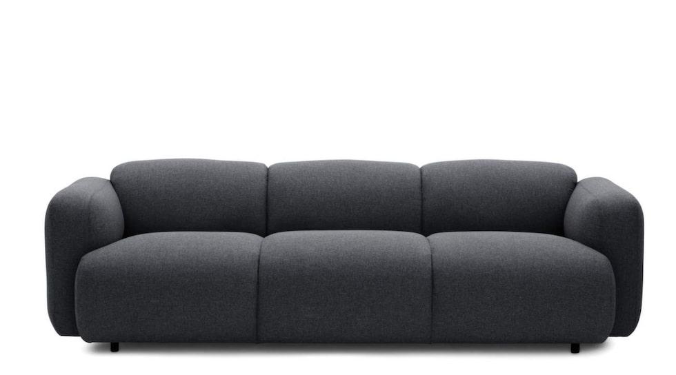 Bullig form. Soffan Swell från Normann Copenhagen, i design av Jonas Wagell, 235 centimeter bred, 24 990 kronor, Confidentliving.se.