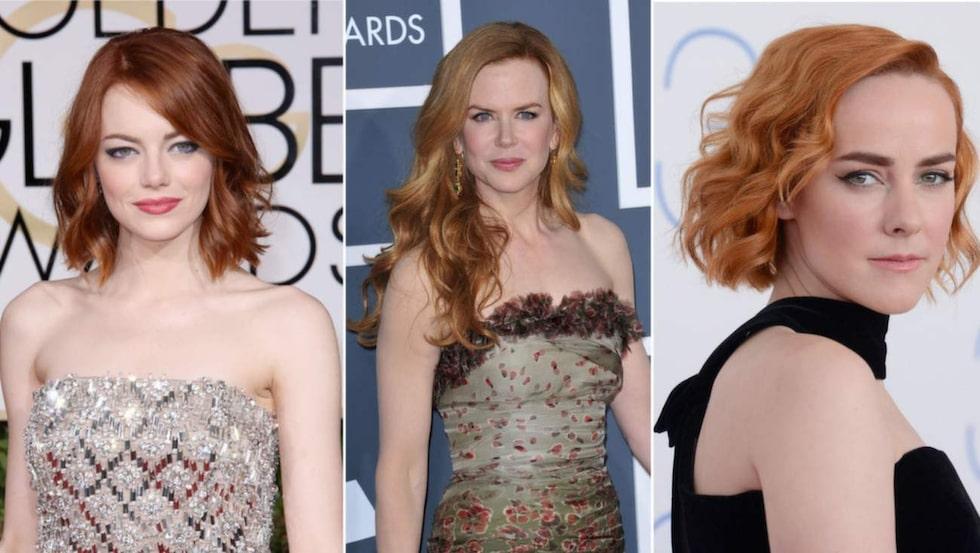Rött hår går att variera i oändlighet. Klicka dig fram i bildspelat för inspiration.