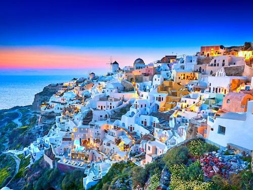 Vandringsleden mellan Fira och Oia sägs bjuda på Europas vackraste utsikt.