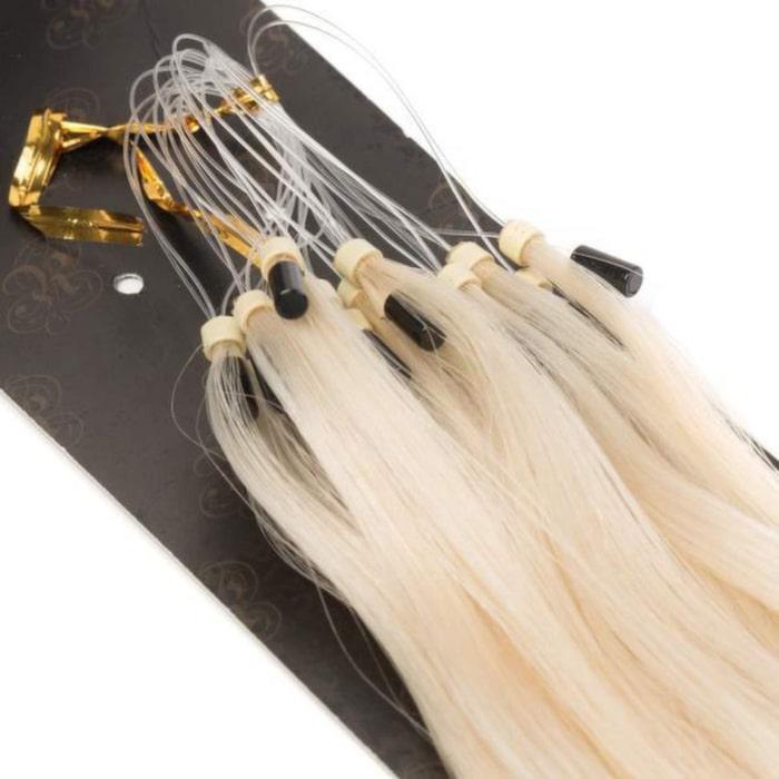 Microringextensions från Rapunzel of Sweden. Modellen heter Loop Hair European Rakt och kostar 369 kronor. Rapunzel of Sweden har mängder av löshör i olika färger, längder, Rapunzelofsweden