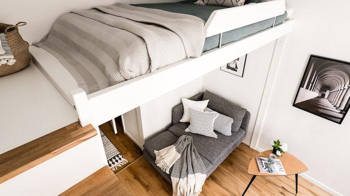 Smart sovloft, 120 centimeter brett.