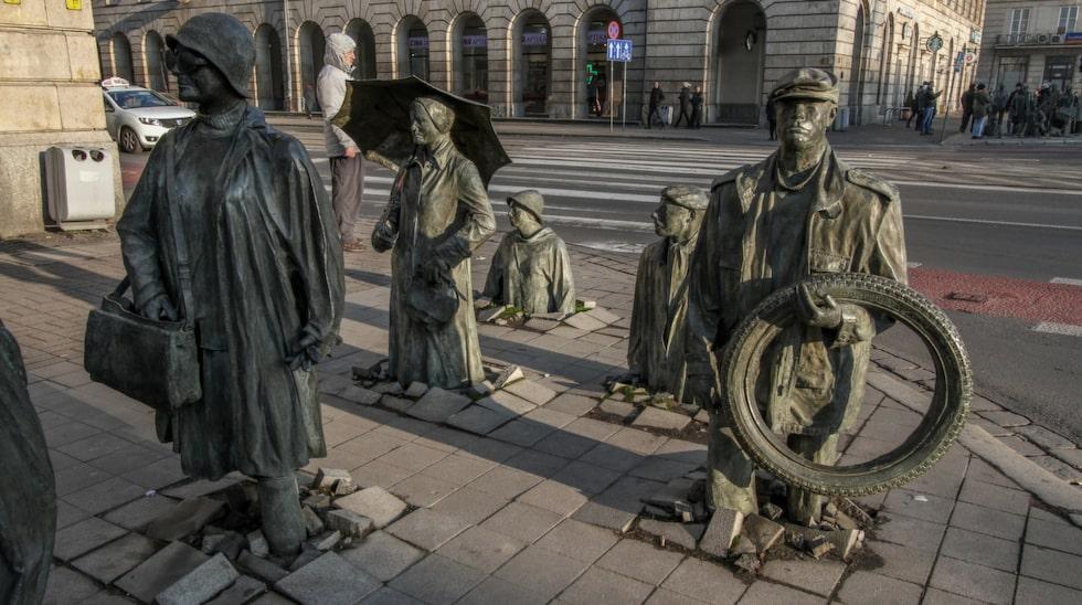 Det finns en mängd olika intressanta statyer i Wroclaw.