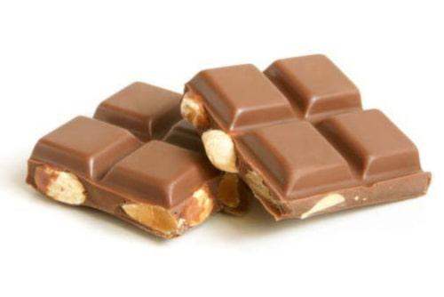 Choklad påverkar inte huden.