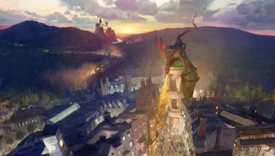 """""""Wizarding world of Harry Potter"""" slog upp portarna så sent som i somras på Universal Orlando."""