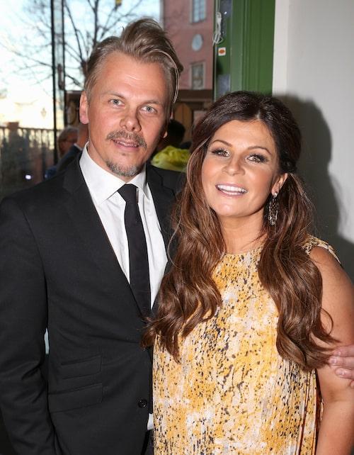 Carola och numera ex-pojkvännen Jimmy på en gala.