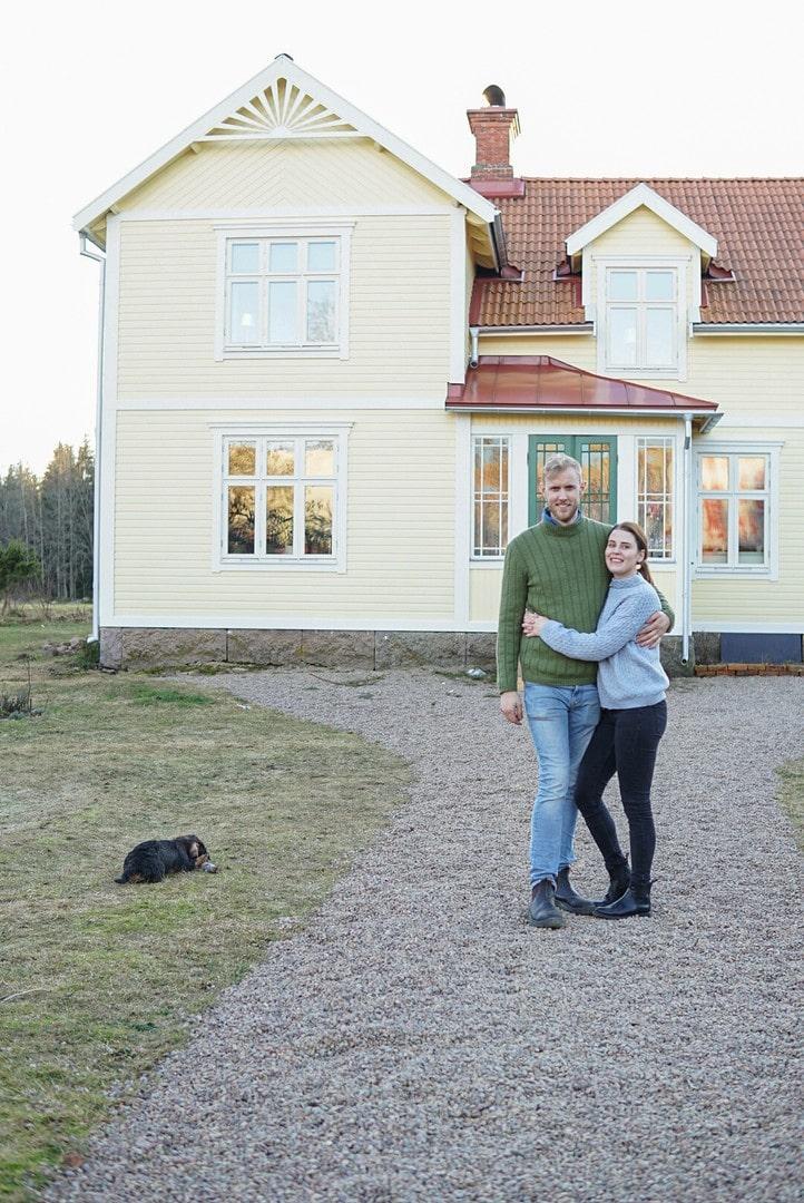 Lisa och Gusten stortrivs i sitt 100-åriga hus.